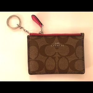 Coach card holder and coin purse
